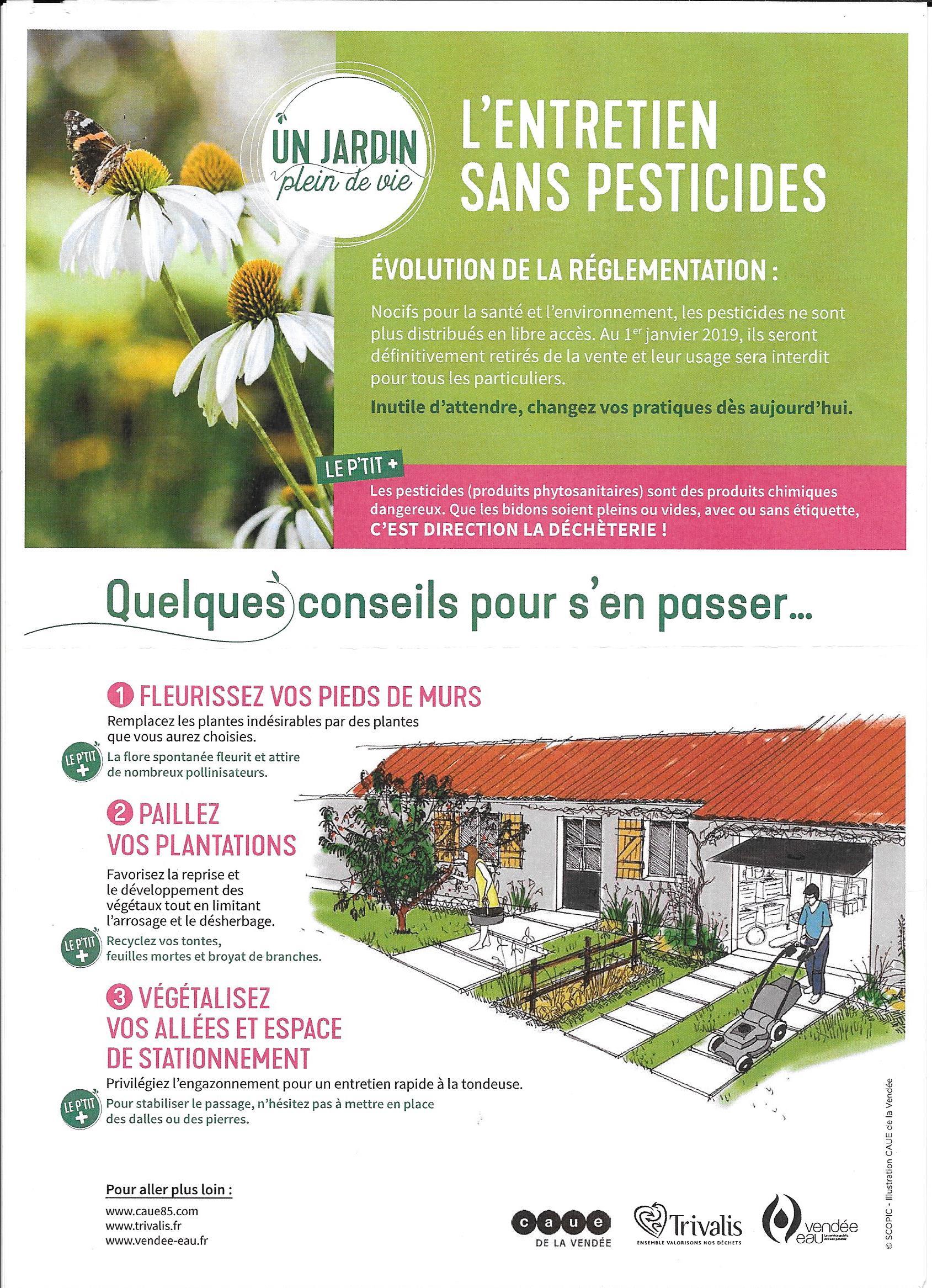 entretien sans pesticides au 1 er janvier 2019 | sainte-flaive-des-loups
