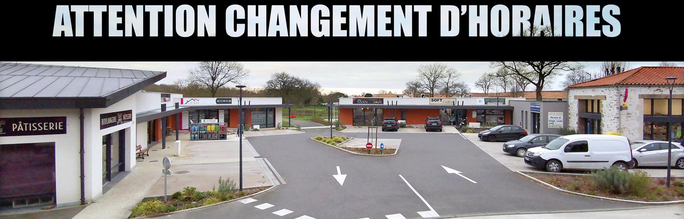 ATTENTION CHANGEMENT D'HORAIRES COMMERCES SAINTE-FLAIVE-DES-LOUPS