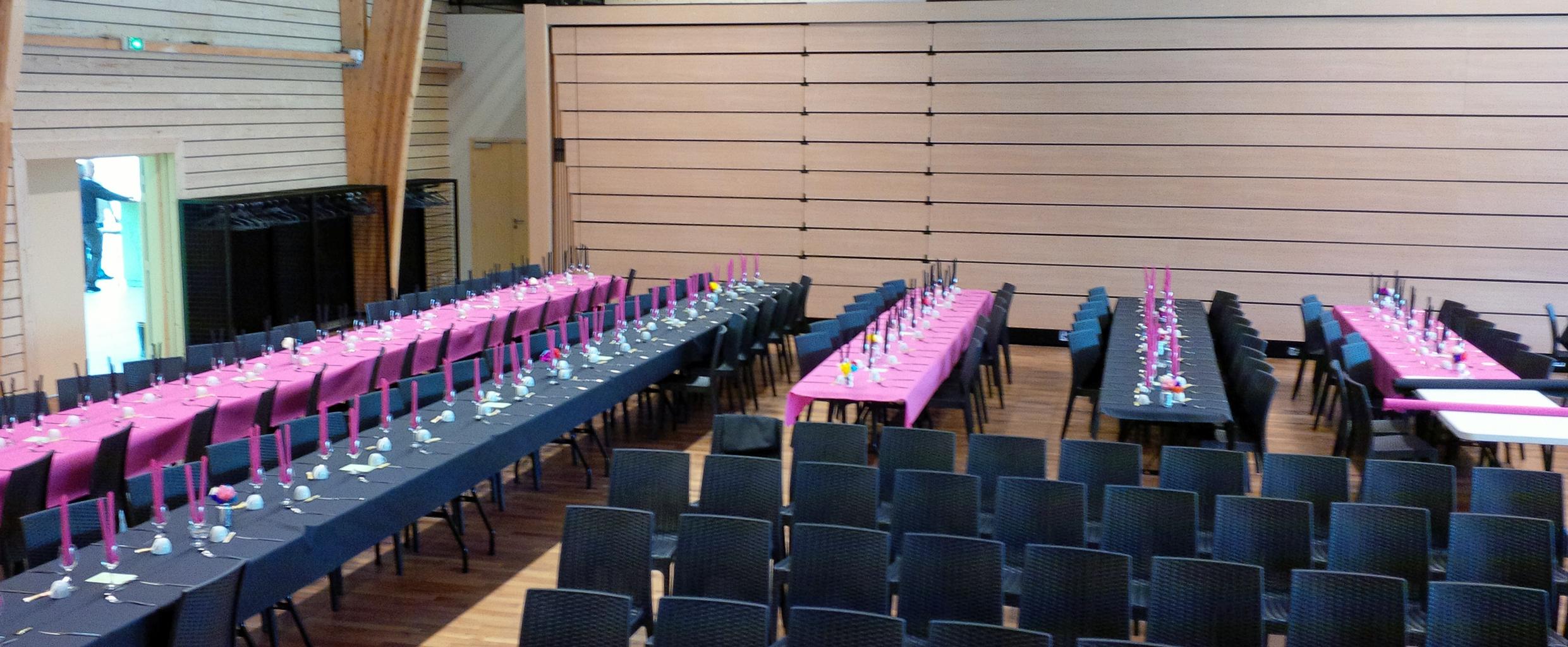 Configuration salle des fêtes/réceptions